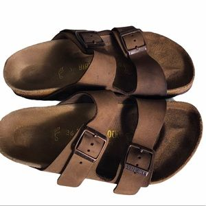 Birkenstock Arizona oiled leather brown sandals